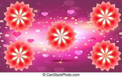 digital textile design of flower on abstract background