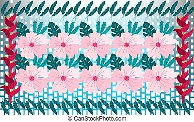 digital textile design of flowers