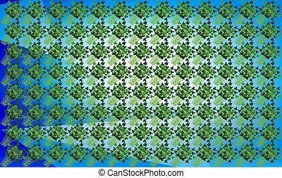 digital textile design of leaves art