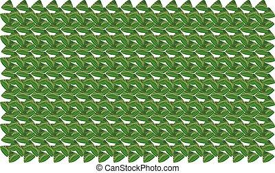digital textile design of leaves