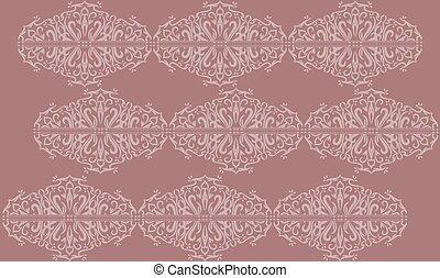 digital textile design of ornament art
