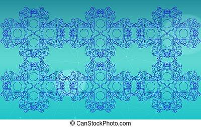 digital textile design of ornamental art