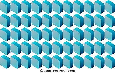 digital textile design of small cubes