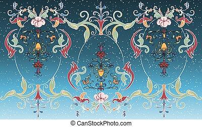 digital textile design of traditional art