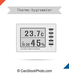Digital thermometer hygrometer icon