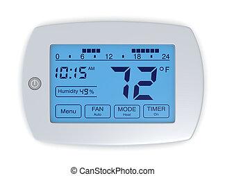 digital thermostat - closeup of a digital, programmable ...