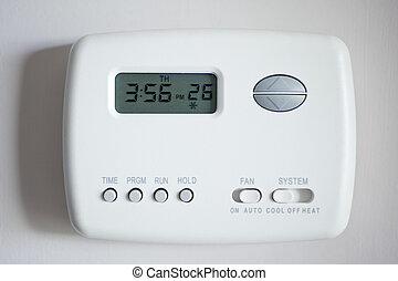 Digital Thermostat set to 26 degrees Celsius.