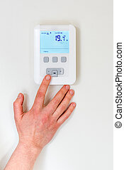 Digital thermostat - digital thermostat with finger pressing...