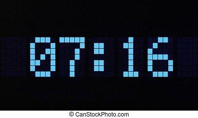 Digital time countdown