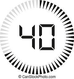 Digital timer, clock and watch for design. Vector illustration