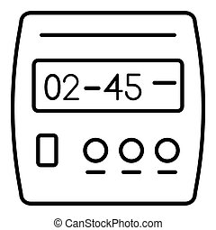 Digital timer icon, outline style