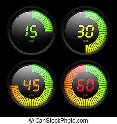 Digital timer illustration