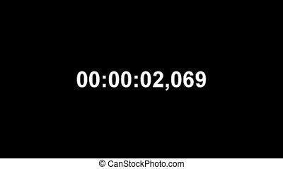 digital timer on black background