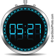 Digital Timer, vector eps10 illustration