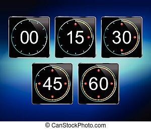digital timer vector
