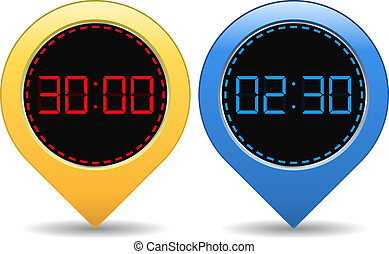 Digital Timers, vector eps10 illustration