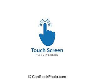 Digital touch technology logo