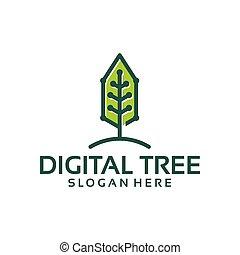 Digital Tree Logo template designs