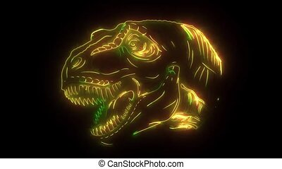 digital tyrannosaurus that lights up with lasers -...