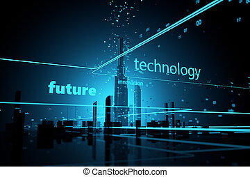 Digital Universe Futuristic skyscrapers