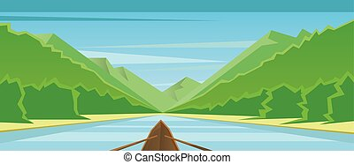 Digital vector abstract background with a boat
