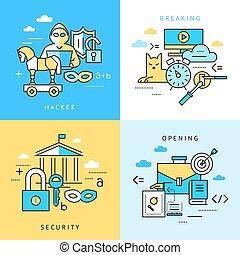 Digital vector blue internet security data