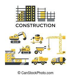 Digital vector construction building tracks - Digital vector...