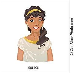 greek goddess hera cartoon cartoon illustration of mythological rh canstockphoto com hera action figure star wars hera cartoon images