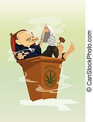 Digital vector funny comic cartoon