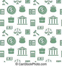 Digital vector green business icons