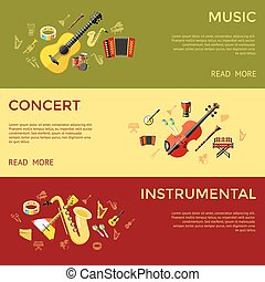 Digital vector green music