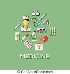 Digital vector green red nurse