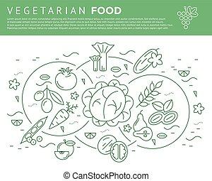Digital vector green vegetable icons set
