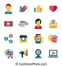 Digital vector social media and communication