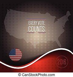 Digital vector usa election 2016