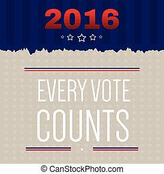 Digital vector usa election with every vote counts
