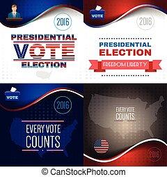 Digital vector usa presidential election