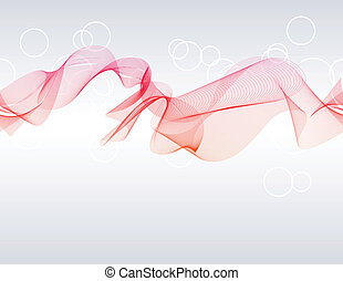 Digital vector waves on light grey background.