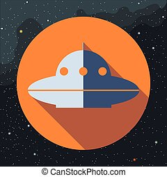 Digital vector with space ufo alien ship