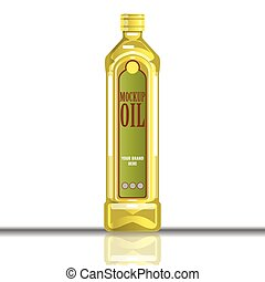Digital vector yellow olive and sunflower oil