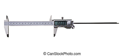 Digital Vernier Caliper - Isolated on White