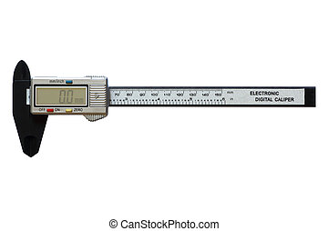Digital vernier calipers, isolated on white background