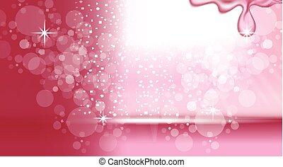 digital, vetorial, abstratos, fundo cor-de-rosa