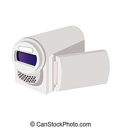 Digital video camera cartoon icon
