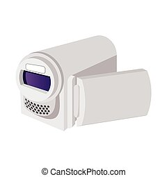 Digital video camera cartoon icon