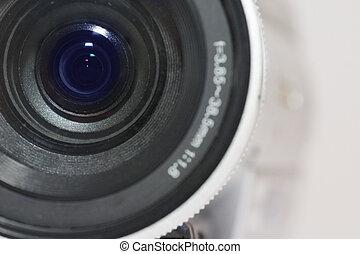 Digital Video Camera - Close up of digital video camera...