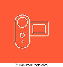 Digital video camera line icon.
