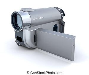 digital video camera - 3d render of a consumer compact video...