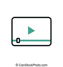 Digital video play icon vector design