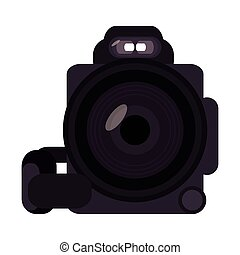 digital videocamera icon - flat design digital videocamera...